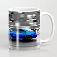 subaru Mugs featuring Subaru Racer by VHS Photography