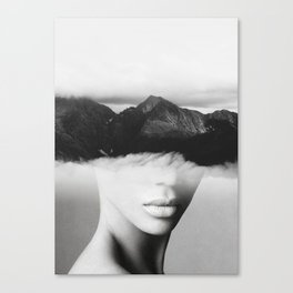 silence of the mountain Canvas Print