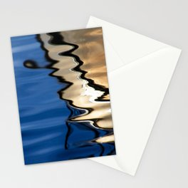 Blue white abstract Stationery Cards