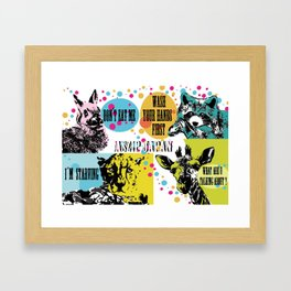 Law of the jungle Framed Art Print