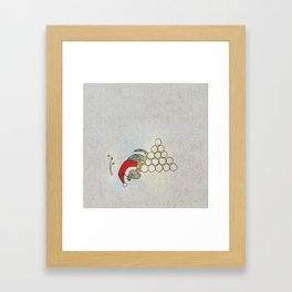 Puppy Sleeping, Xmas Eve Framed Art Print