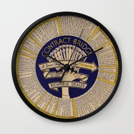 Contract Bridge Wheel, 1940s Wall Clock