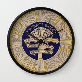 Contract Bridge Wheel, 1940s Wall Clock