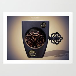 The Mechanic Coffee Art Print