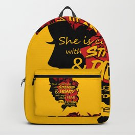 She is clothed with strength and dignity and laughs without fear of the future-Proverbs 31:25 Backpack