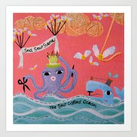 Sea Sew Scene Art Print