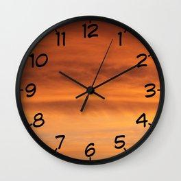 Irish Skies - February morning sunrise I Wall Clock
