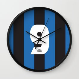 Internazionale Milano Number 9 Wall Clock
