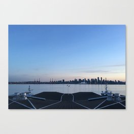 Sunset in North Vancouver Canvas Print