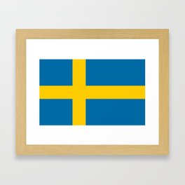 National flag of Sweden Framed Art Print