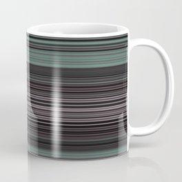 Mint Green Pink Stripes Coffee Mug