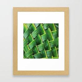 COCONUT LEAF Framed Art Print