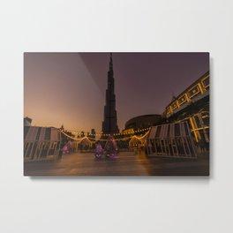 Burj Khalifa sunset Metal Print