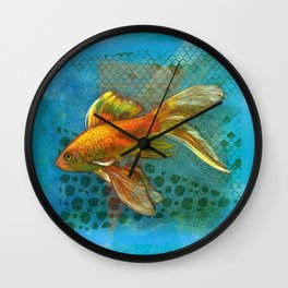 Golden Fish  Wall Clock