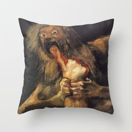 SATURN DEVOURING HIS SON - GOYA Throw Pillow