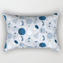 Classic Blue Fruits Ice Rectangular Pillow