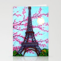 eiffel tower Stationery Cards featuring Eiffel Tower by ArtLovePassion