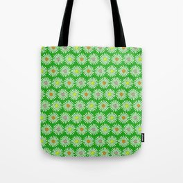 Green 70's flowers Tote Bag