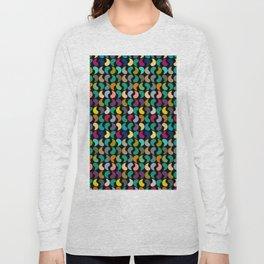 Seamless Colorful Geometric Shapes Pattern Long Sleeve T-shirt