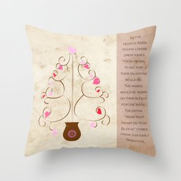 Hearts in Bloom Throw Pillow