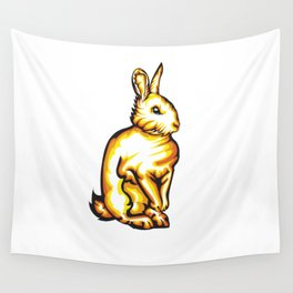 Angry Bunny Wall Tapestry
