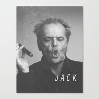 jack nicholson Canvas Prints featuring Jack / Nicholson by Earl of Grey