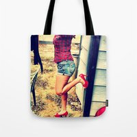heels Tote Bags featuring Laundry Heels by RAG3