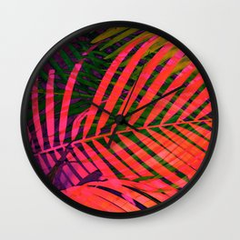 COLORFUL TROPICAL LEAVES no6 Wall Clock