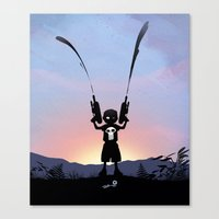 punisher Canvas Prints featuring Punisher Kid by Andy Fairhurst Art