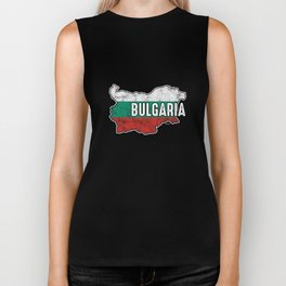Bulgaria Patriotic Bulgarian Flag Map Symbol Nationalism Patriosm Biker Tank