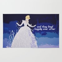 cinderella Area & Throw Rugs featuring Cinderella  by ZeebraPrint