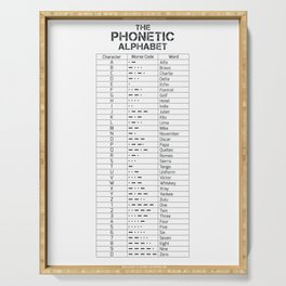 The Phonetic Alphabet And Morse Code Serving Tray