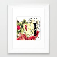 rogue Framed Art Prints featuring Rogue by transFIGure