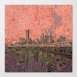 houston city skyline Canvas Print