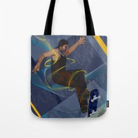 skateboard Tote Bags featuring Project Skateboard by Martin Orme