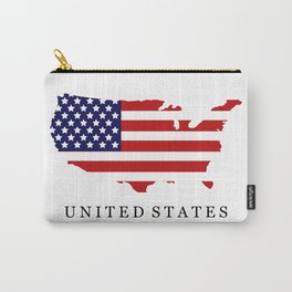 United States map with flag Carry-All Pouch
