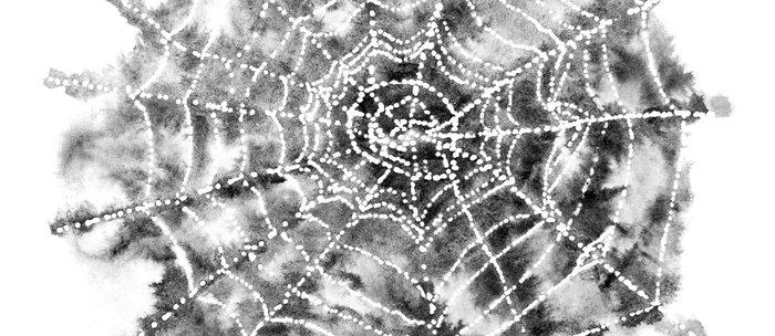 Watercolor Spider Web Halloween Art Coffee Mug
