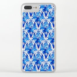 Renaissance gryphon seamless pattern Clear iPhone Case