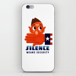 Silence Means Security -- WWII iPhone Skin