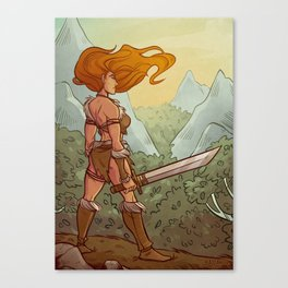 Rowena the Barbarian Canvas Print