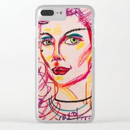 self portrait in purples (tara savelo) Clear iPhone Case