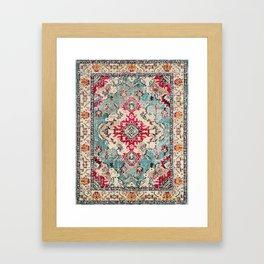 N132 - Heritage Oriental Traditional Vintage Moroccan Style Design Framed Art Print