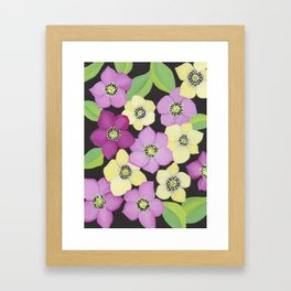 Helleborus floral pattern Framed Art Print