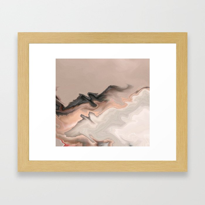 Marble Dream: a digital dreamscape Framed Art Print