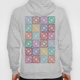 Maze Colorful Seamless Pattern Hoody