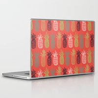 pineapples Laptop & iPad Skins featuring Pineapples by Annie Smith Designs