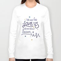 snape Long Sleeve T-shirts featuring Never leave us by Earthlightened