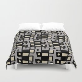 Mid Century Modern Abstract 212 Gray Duvet Cover