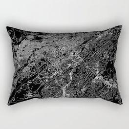 Birmingham Black Map Rectangular Pillow