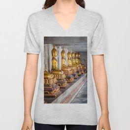 Golden Buddhas Unisex V-Neck